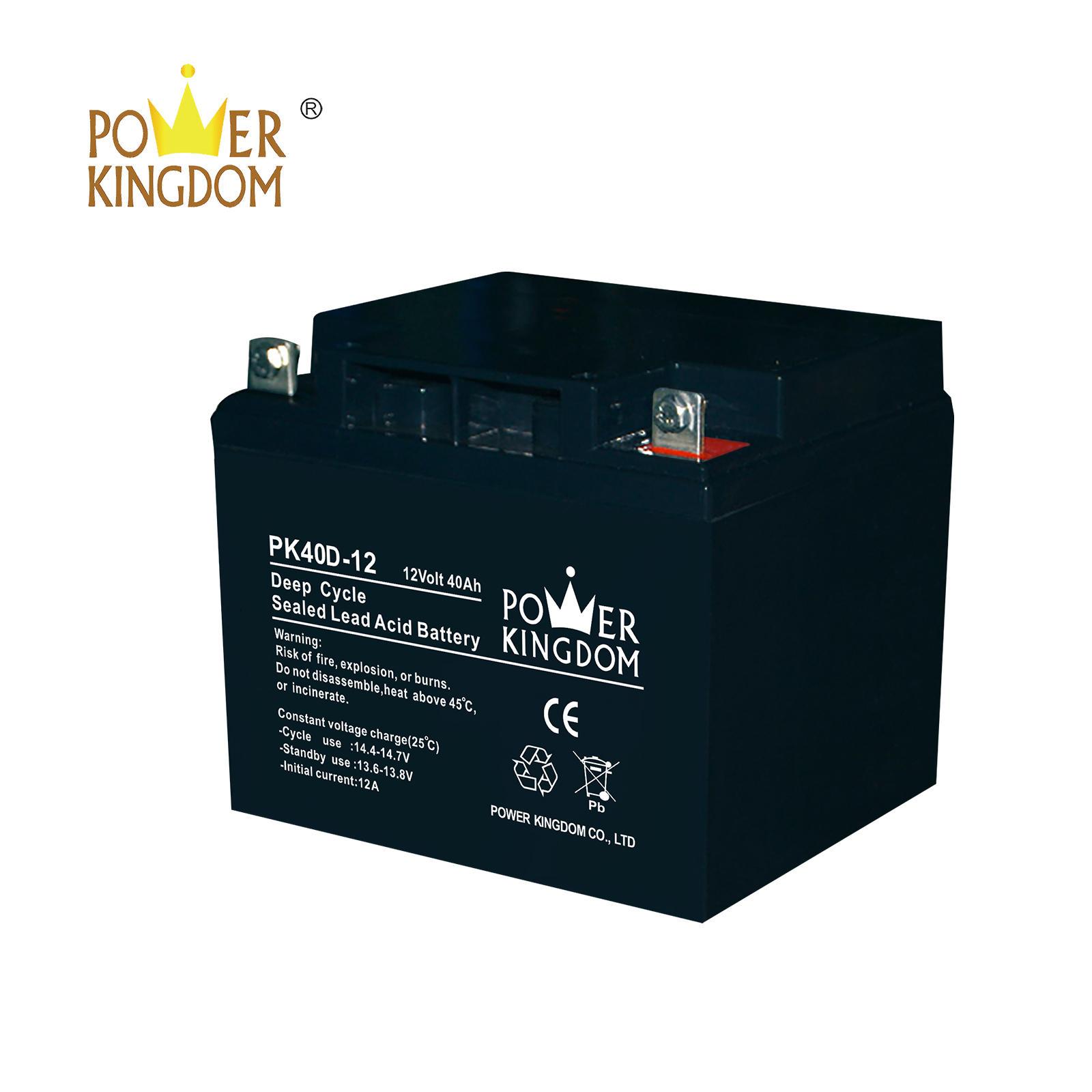 best price 12v 40ah deep cycle battery for solar street lighting
