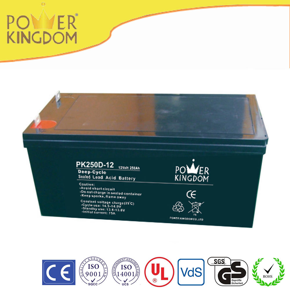12V voltage and 520*268*220mm size AGM deep cycle battery