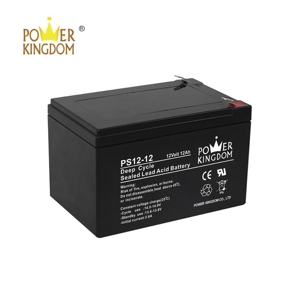 rechargeable deep cycle lead acid storage battery 12v 12ah