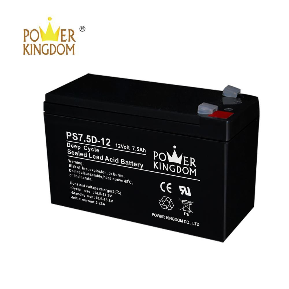 solar light use battery 12v 7.5ah deep cycle lead acid battery