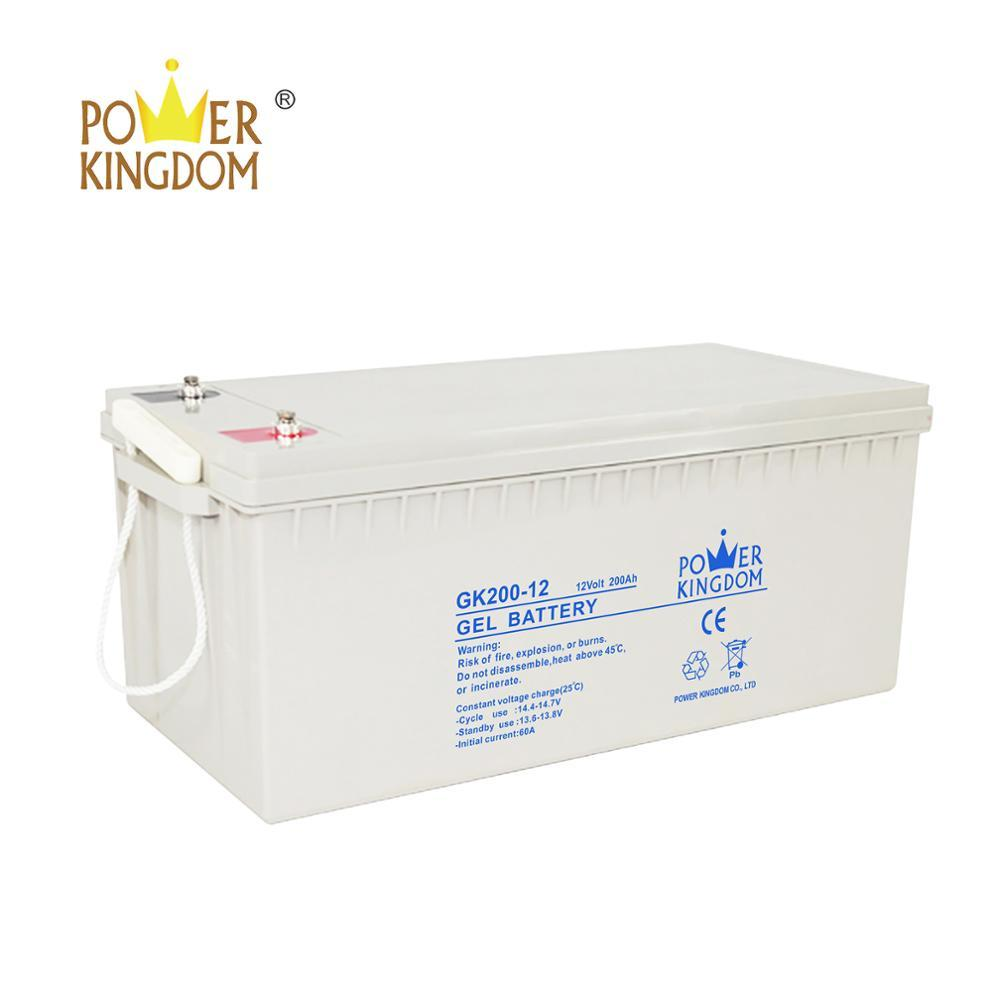 3 years warranty long life factory price solar inverter gel battery 12v 200ah with good price