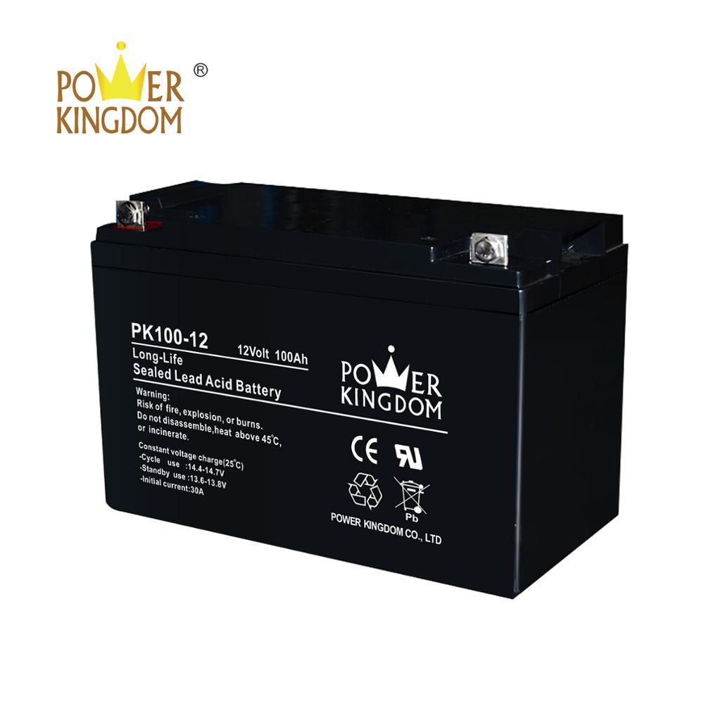 Power Kingdom Rechargeable sealed lead acid solar battery 12v 100ah