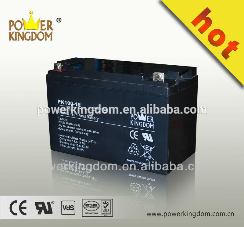 Solar battery 12v 100ah storage deep cycle battery