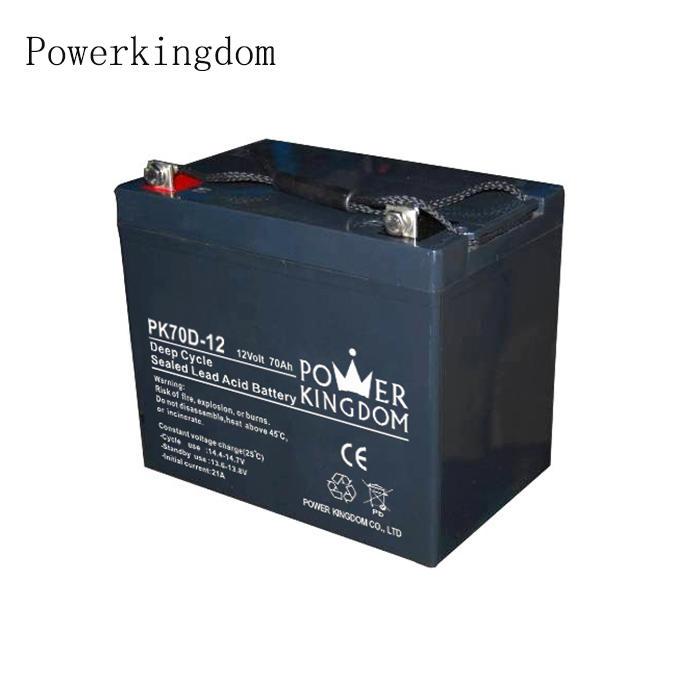 Hot sale free maintenance solar deep cycle battery 12v 70ah displace lead acid battery