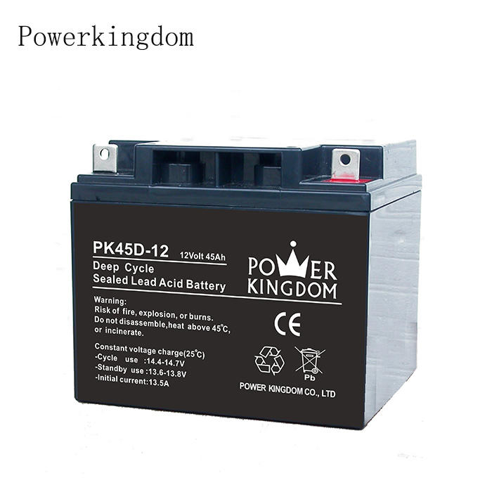 Solar Power System ups lead acid battery 12V 45AH Rechargeable Deep CycleStorage Battery