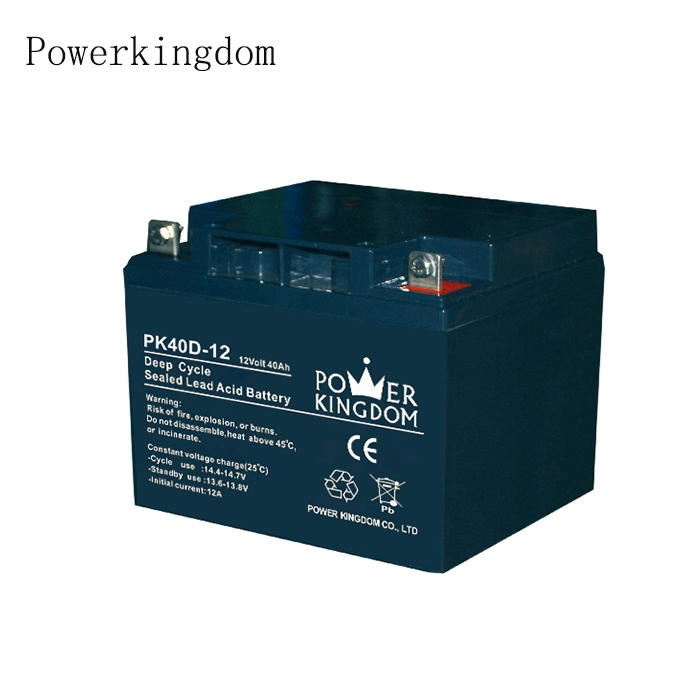 Long service life battery solar dry cell 12V40AH deep cycle lead acid battery
