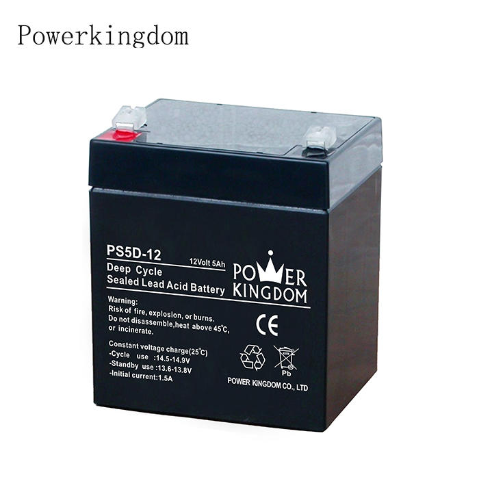 Top quality 12v 5ah Deep cycle rechargeable sealed lead acid battery