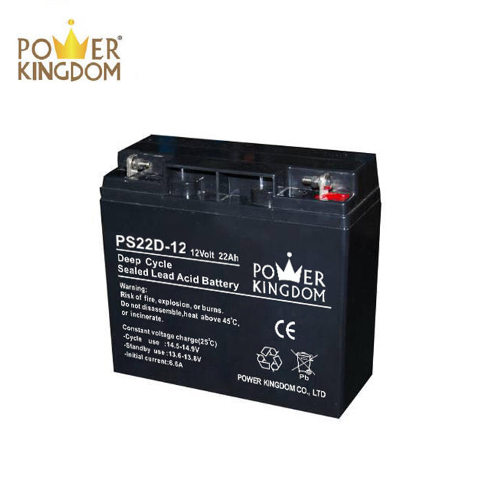 Hot sale battery!!! battery charger 12v 22ah lead acid battery deep cycle series