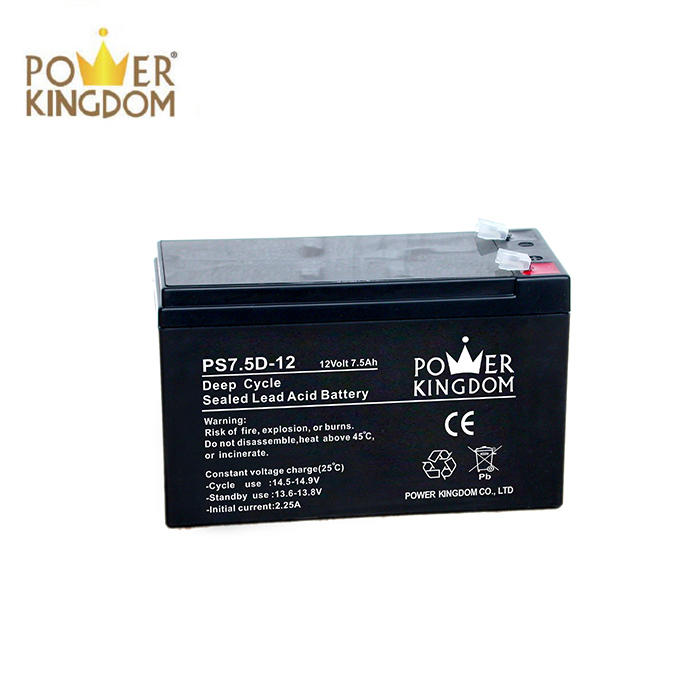 lead acid battery operated rechargeable fan radio emergency light 7.5 deep cycle battery