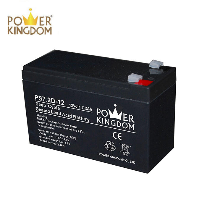 Professional design battery operated security alarm system 12v7.2ah battery deep cycle battery