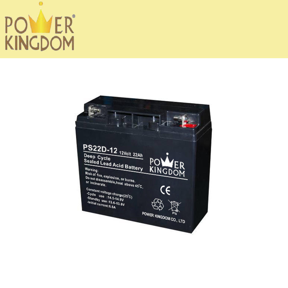 High pure lead acid best solar power battery for ups hybrid system deep cycle 12v22ah