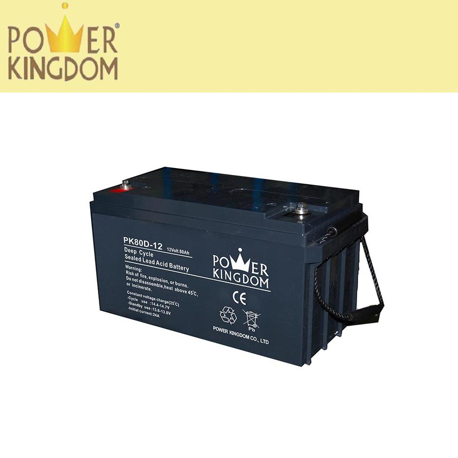 Lead acid battery deep cycle battery 12v 50ah 80ah 100ah 200ah for solar