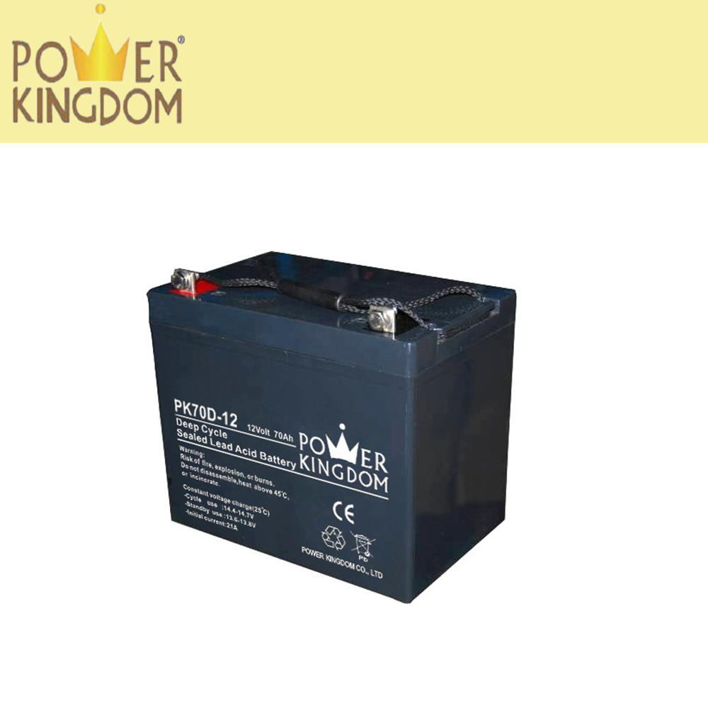12 v 70 Ah AGM lead acid battery storage battery deep cycle battery