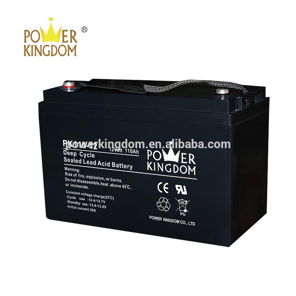 110ah 12v POWER KINGDOM deep cycle life VRLA sealed lead acid battery