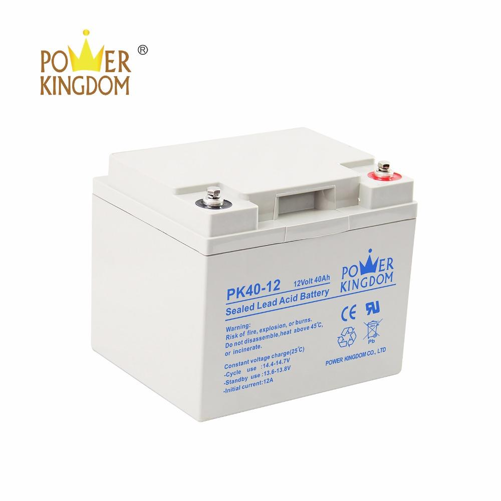 Deep Cycle Rechargeable 12V 40Ah Lead Acid Battery For Solar System Battery