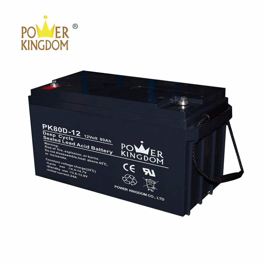 Deep cycle 12V80AH top sale ISO9001 UL EPS system lead acid battery