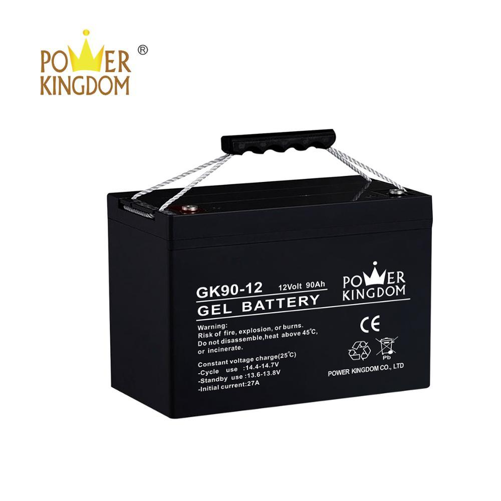 gel 12V 90AH battery with deep cycle