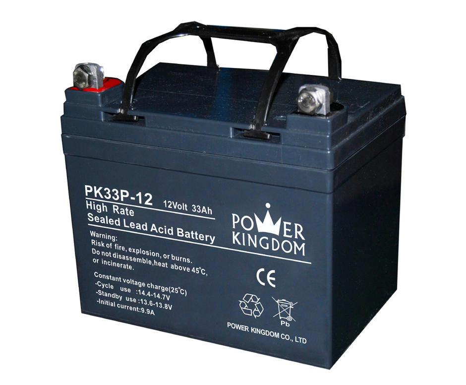 China supplier high rate 12v 33ah solar lead acid battery