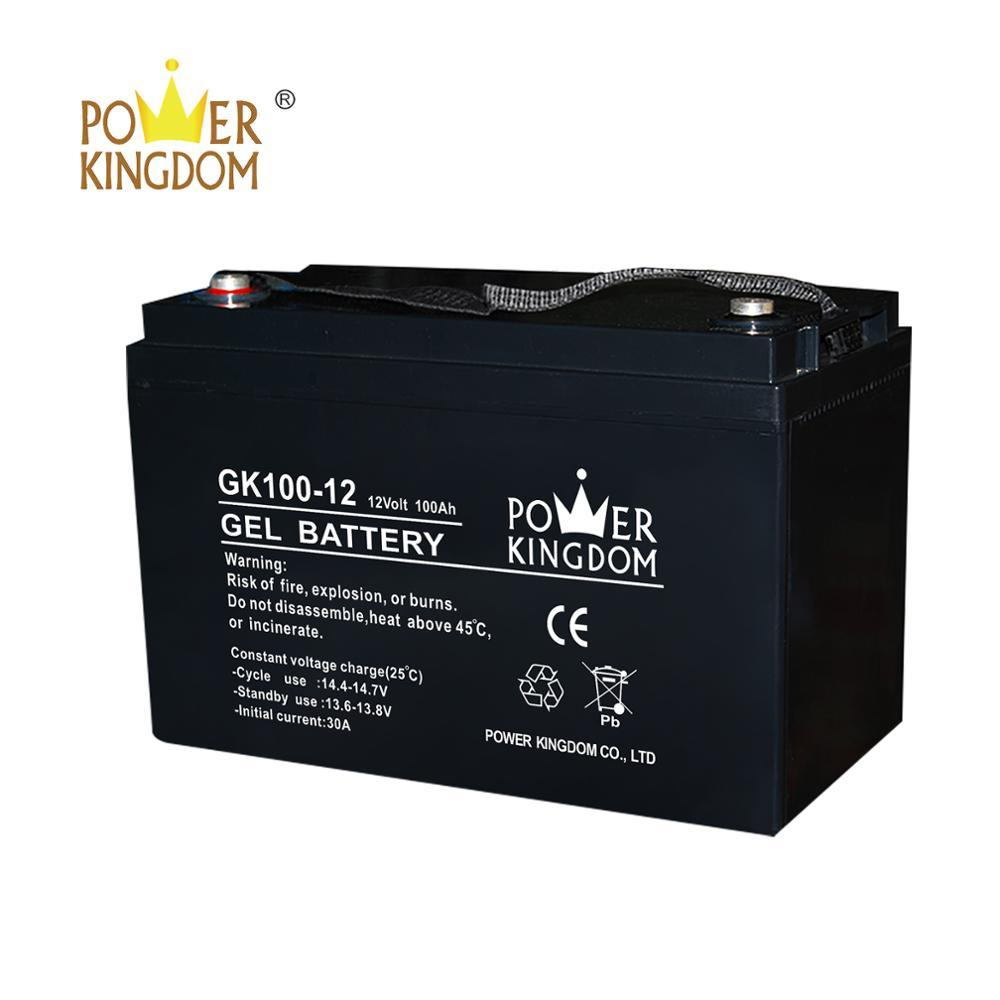 Power Kingdom deep cycle rechargeable 12V 100AHbattery with long life