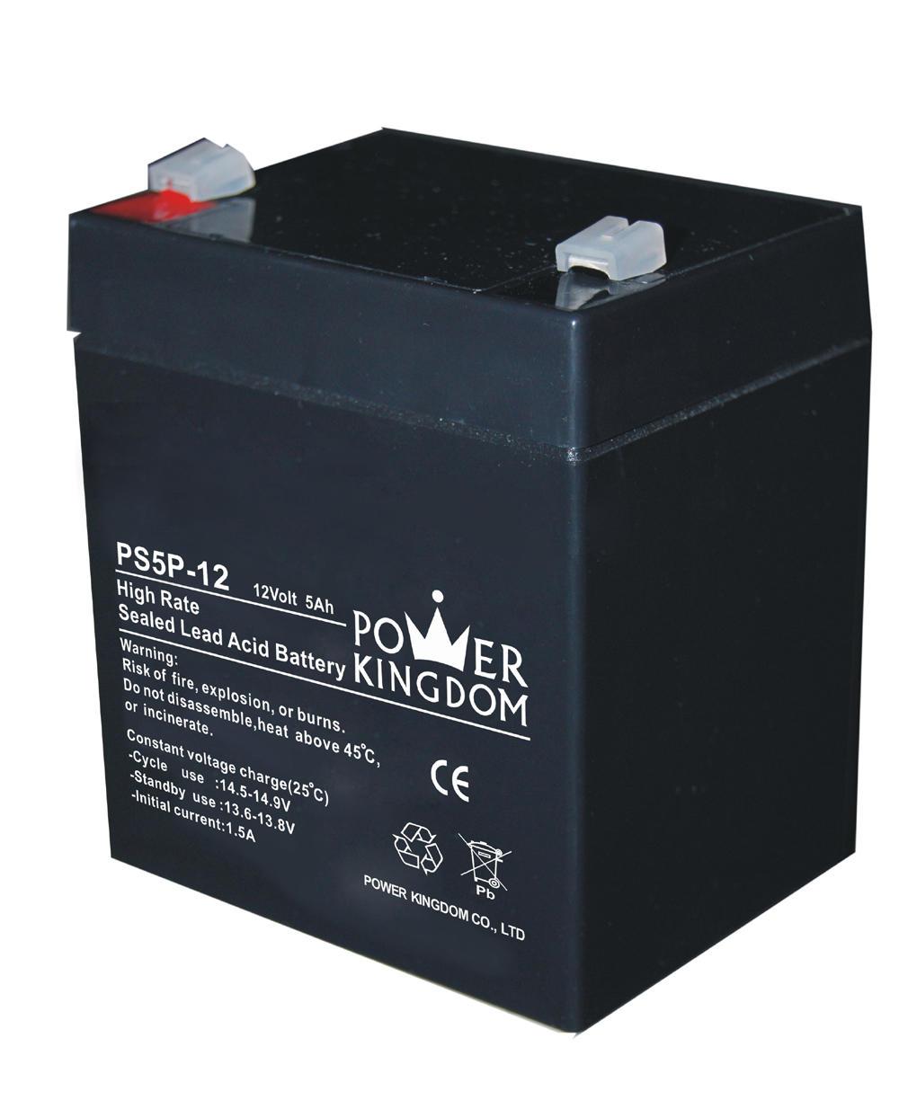 Power Kingdom high rate series 5ah 12v sealed lead acid battery