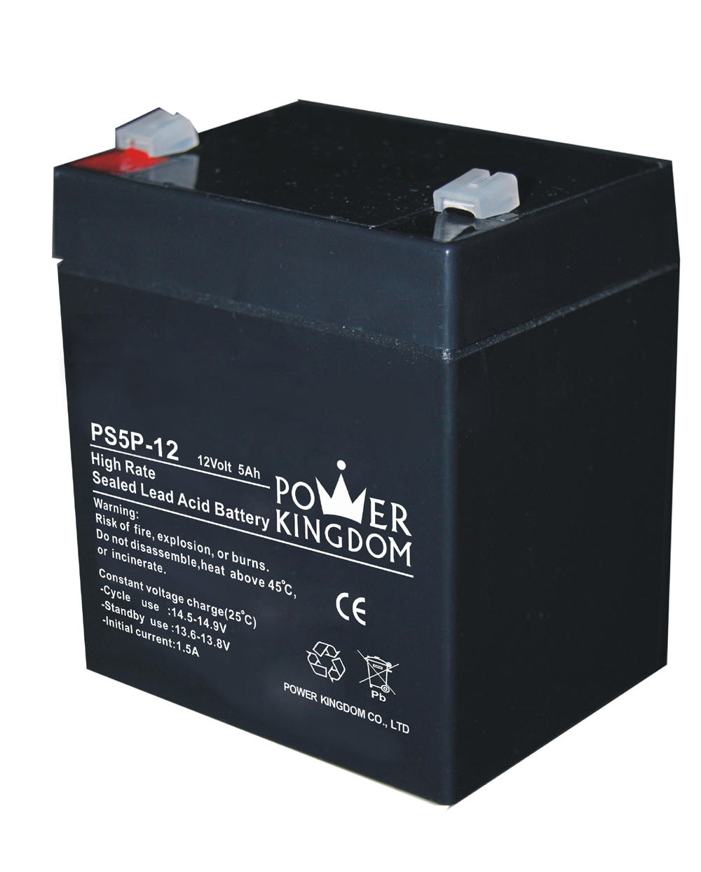Power Kingdom high rate series 5ah 12v sealed lead acid battery