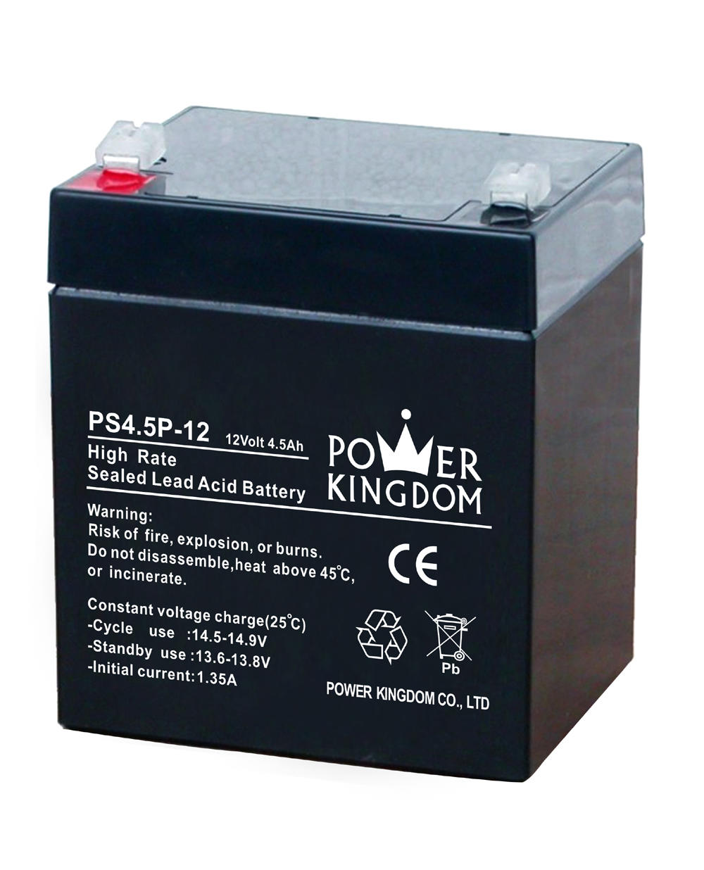 Power Kingdom high rate series 4.5ah 12v sealed lead acid battery