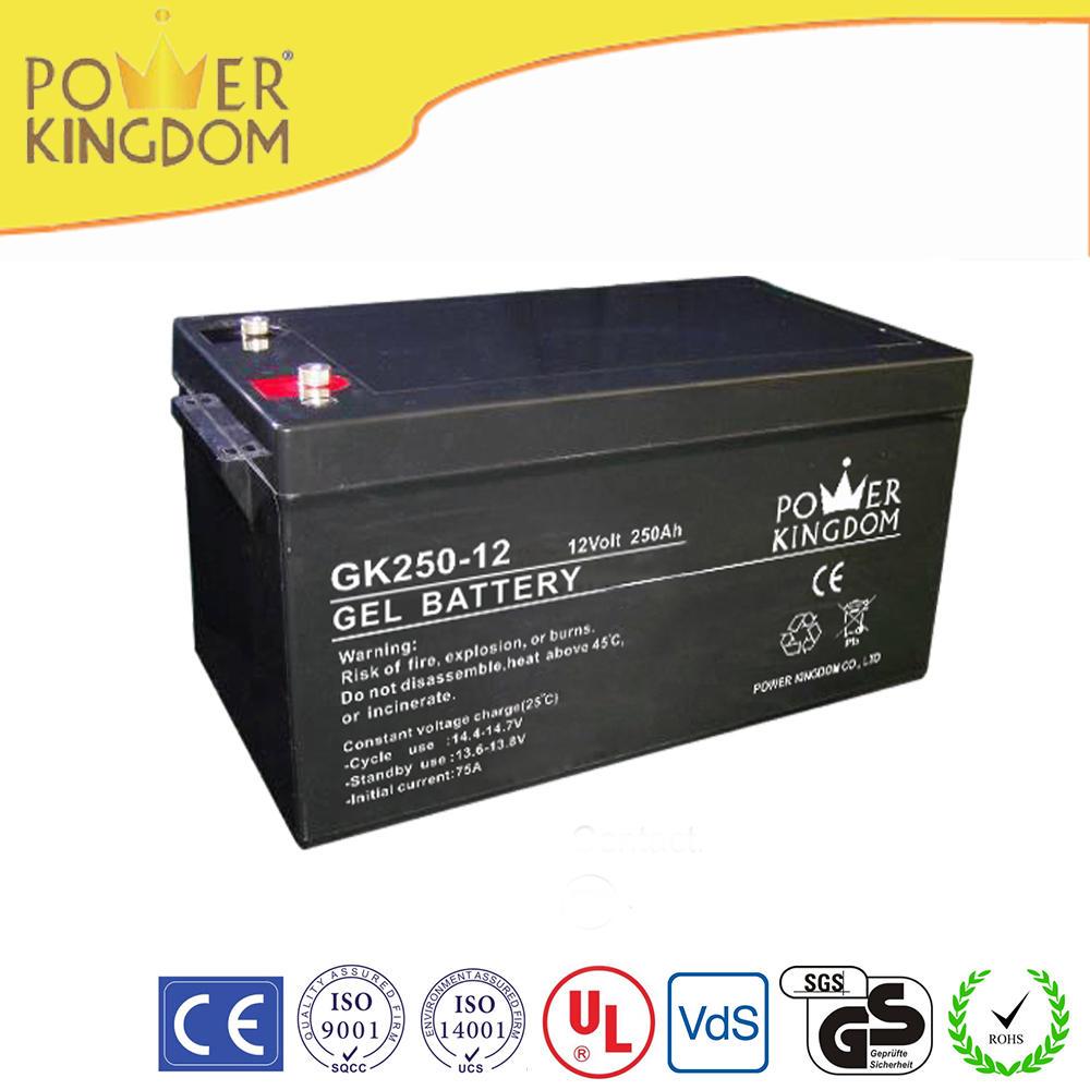 promotion gel battery 12v 250ah sealed lead acid battery