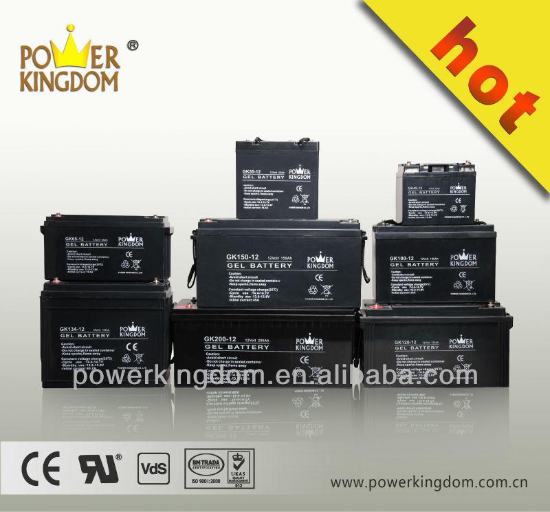high quality 3 years power kingdom 12v 80ah sealed lead acid gel battery