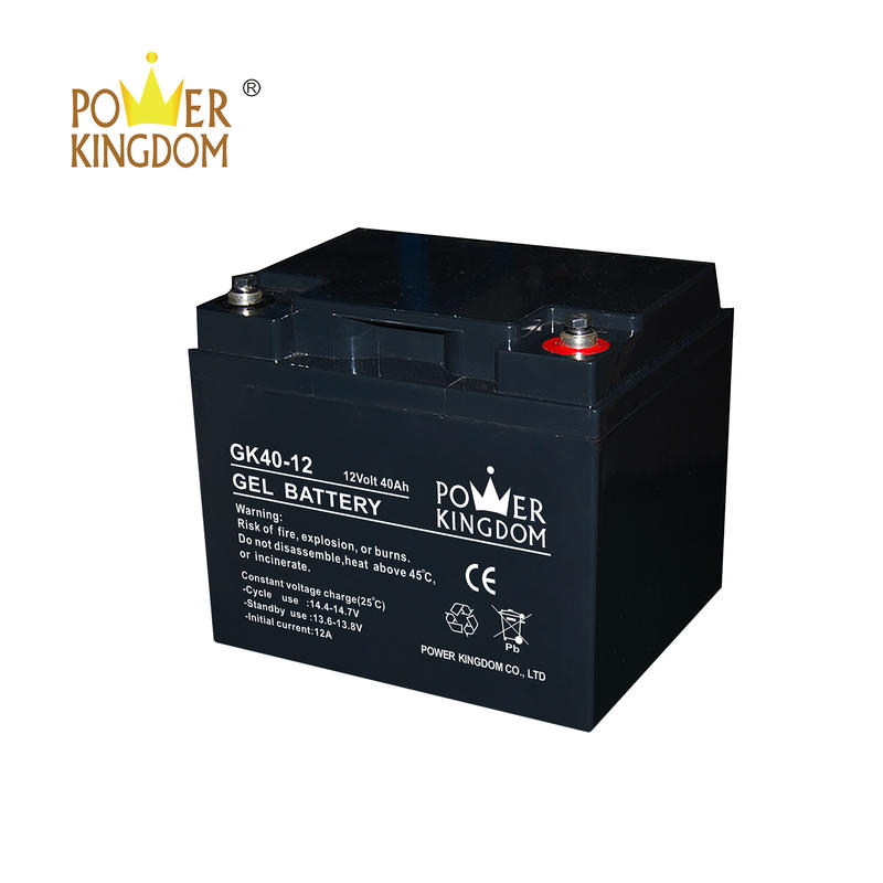 UPS Gel lead acid battery rechargeable sealed maintenance free valve regulated manufacturer