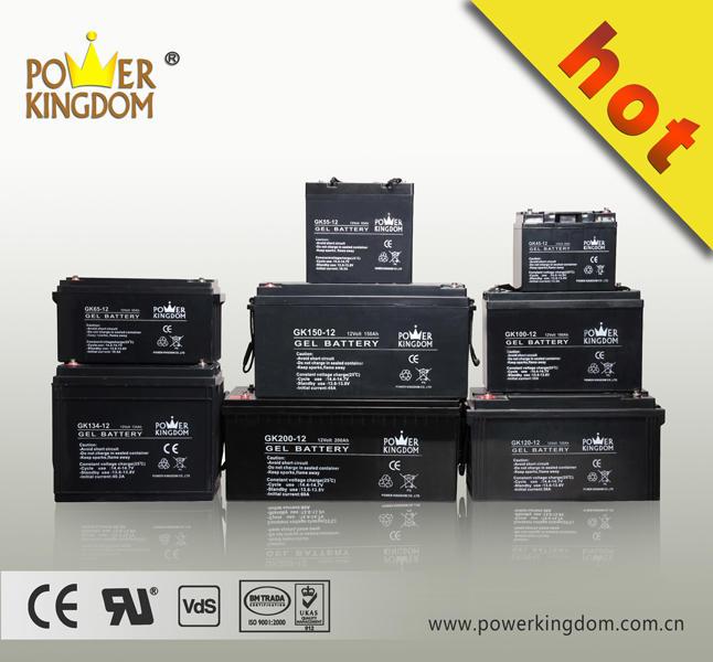 UPS Gel lead acid battery rechargeable sealed maintenance free valve regulated manufacturer