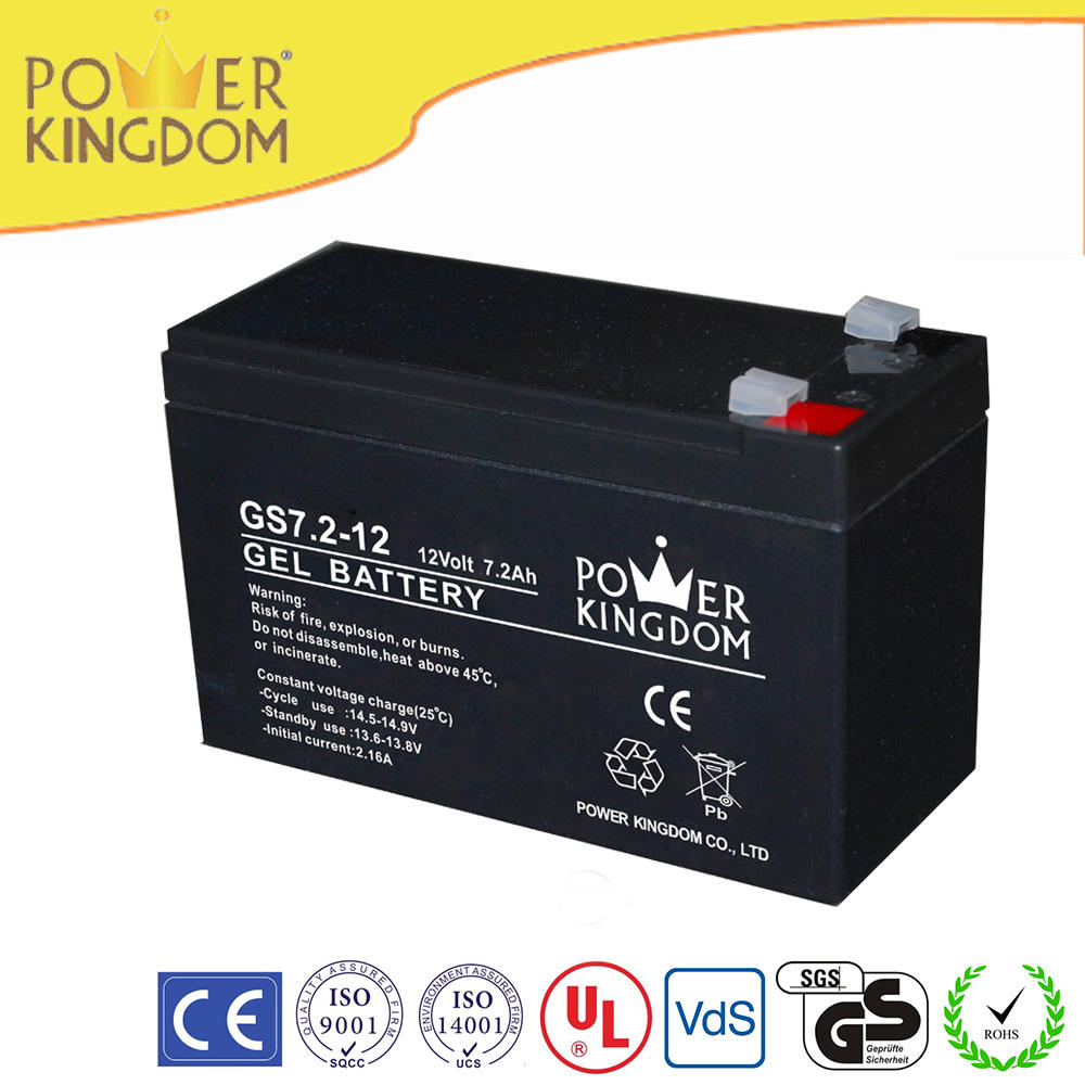 sealed gel 12v 7.2ah portable small rechargeable battery