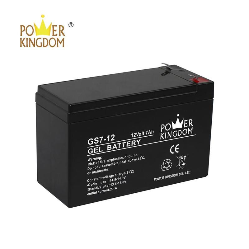 solar gel battery 12v 7ah sealed lead acid battery