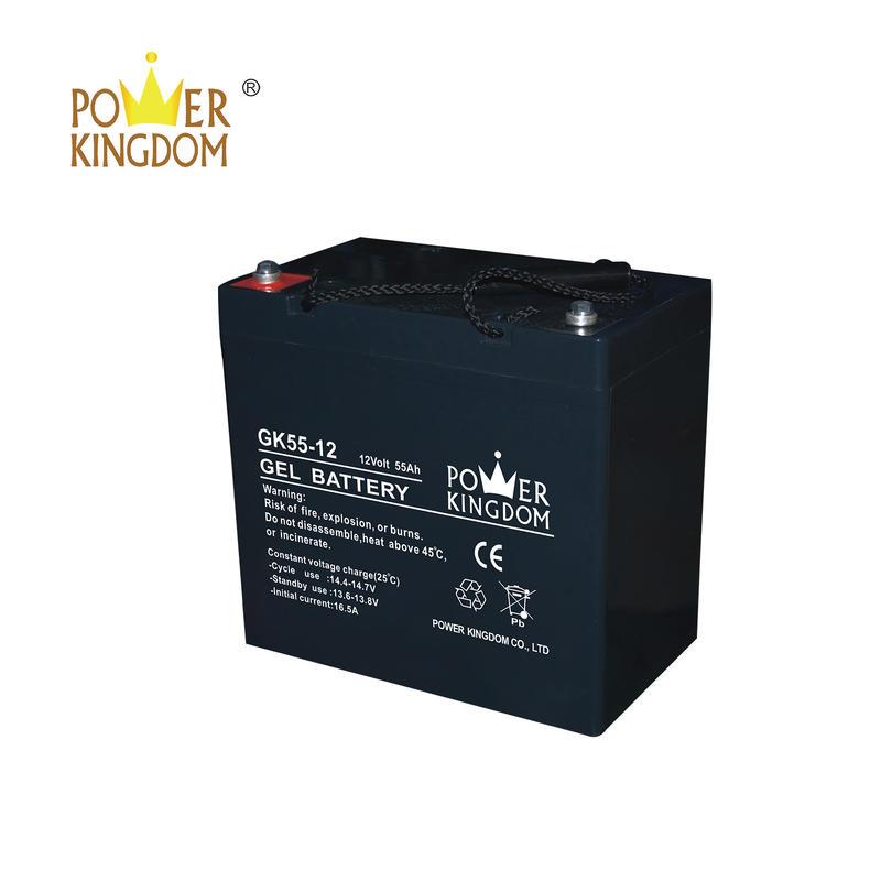 maintenance free sealed lead acid battery 12v 55ah
