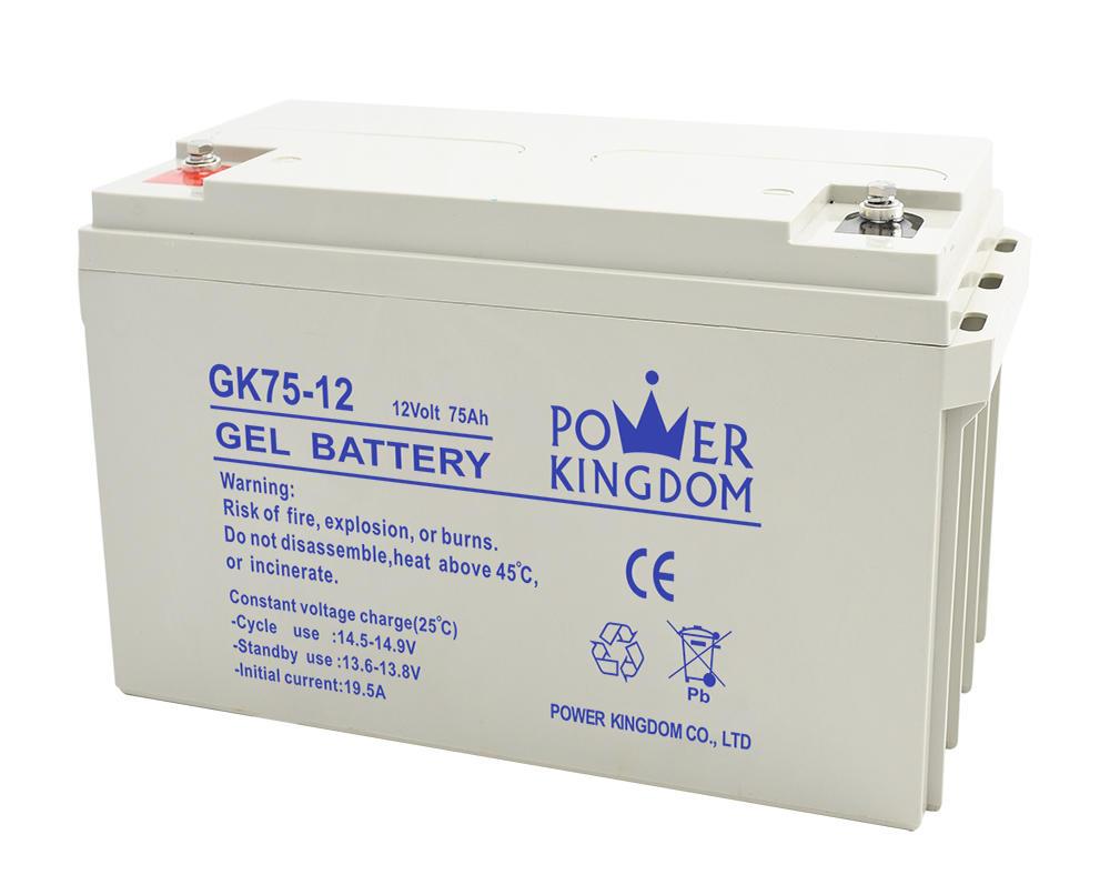 Power Kingdom storage batteries 12v 75ah AGM GEL battery