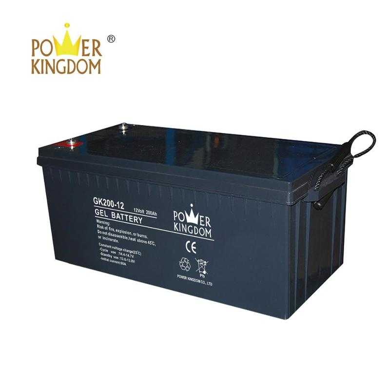 Top grade 12v lead acid battery solar battery 200ah for pv energy storage use