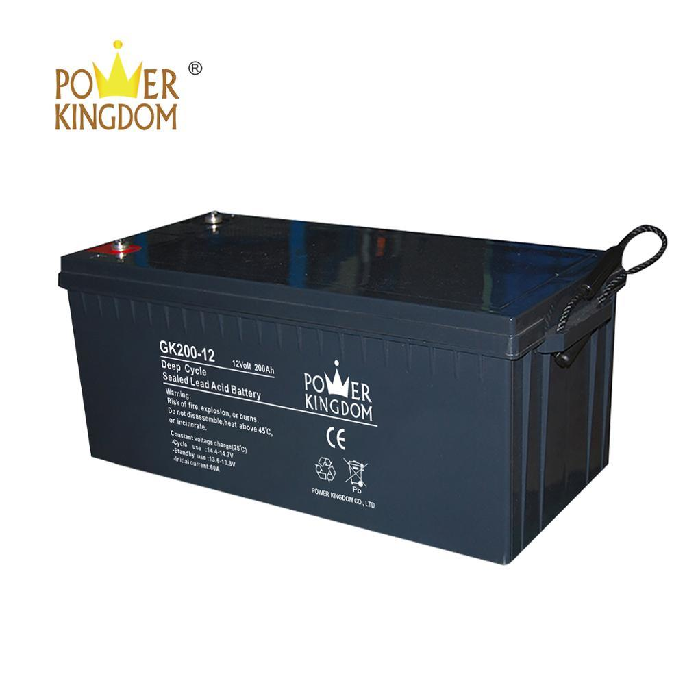 The battery 12v 200ah gel battery for wind and solar hybrid power generation