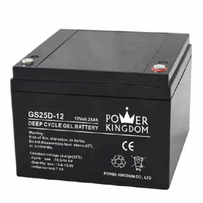 maintenance free gel deep cycle battery 12V 25AH for ups/ solar application