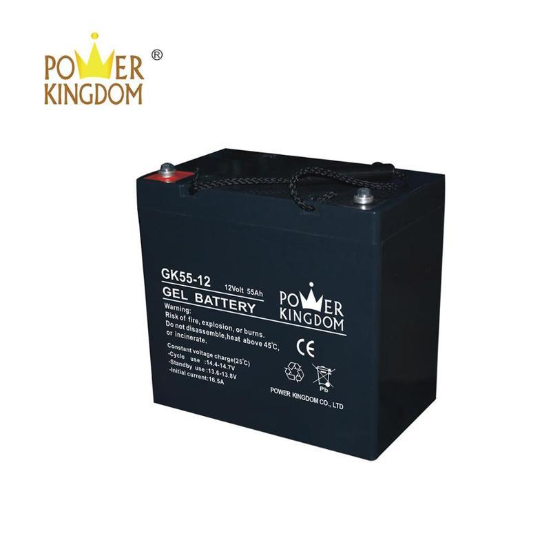 AGM maintenance free Gel VRLA battery 12V 55AH