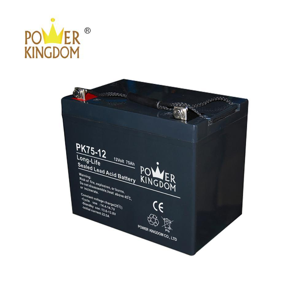 Powerkingdom High quality 12v 75ah battery for solar power system / energy storage