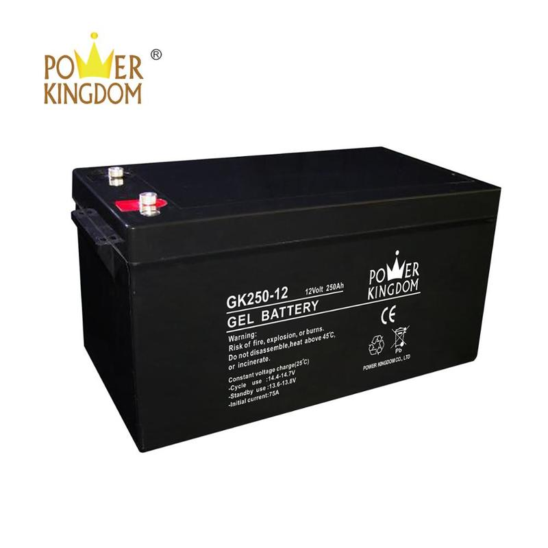 Rechargeable deep cycle solar gel battery 12V 250AH