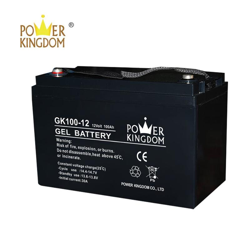 Gel deep cycle battery GK100-12D 12V100ah rechargeable battery