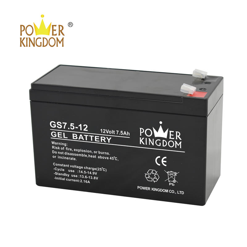 GEL Battery 12V 7.5AHsealed lead acid battery maintenance freebaterias para ups