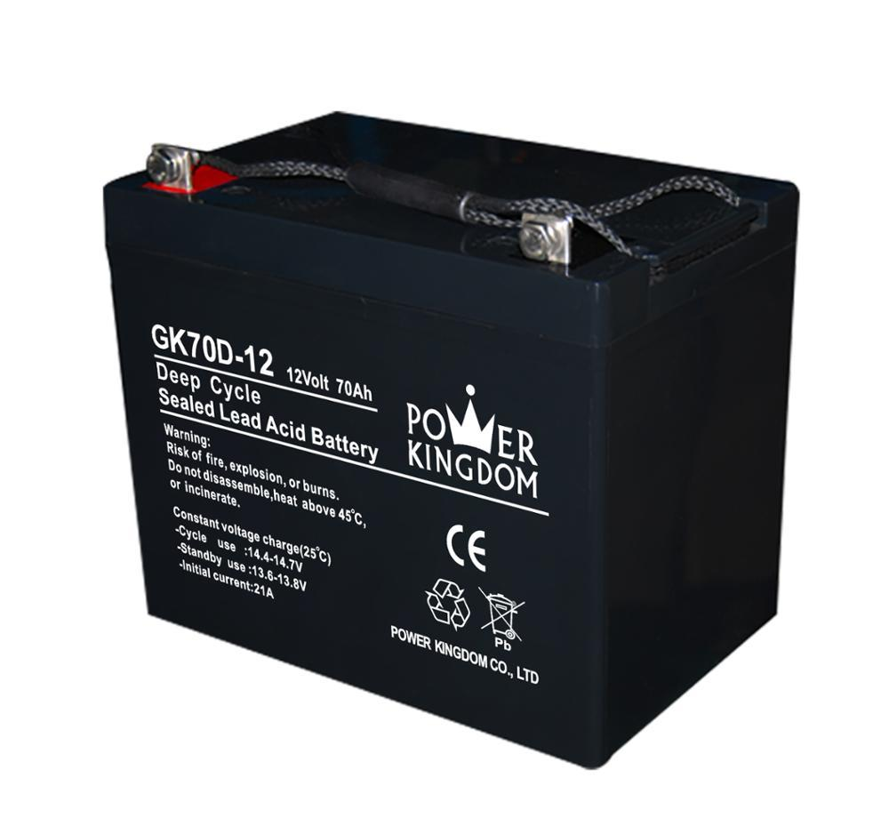 Gel Deep Cycle 12V 70AH High Performance Sealed Lead Acid Battery for Solar and Wind