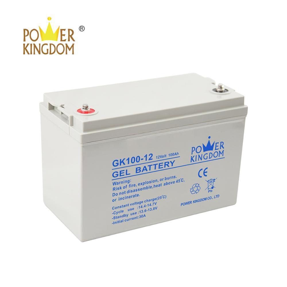 Powerkingdom solar gel battery 12v 100ah
