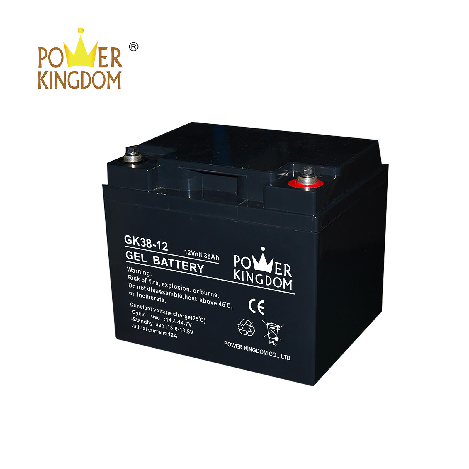 3 years warranty Gel deep cycle solar gel battery 12v 38ah battery price with high quality