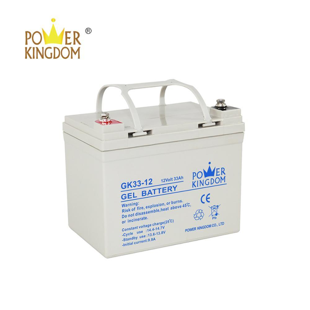 Gel and Normal 12V 33AH storage recharge battery power value regulated lead acid battery