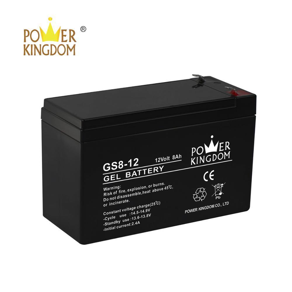 powerkingdom super quality best price 12v battery 8ah gel