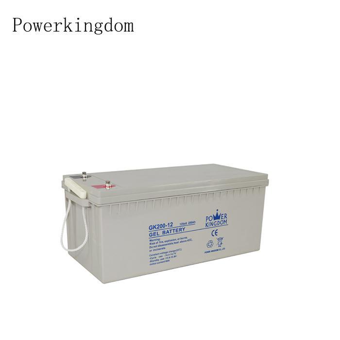Gel 12v 200ah battery Pure Gel battery for solar street light and solar system