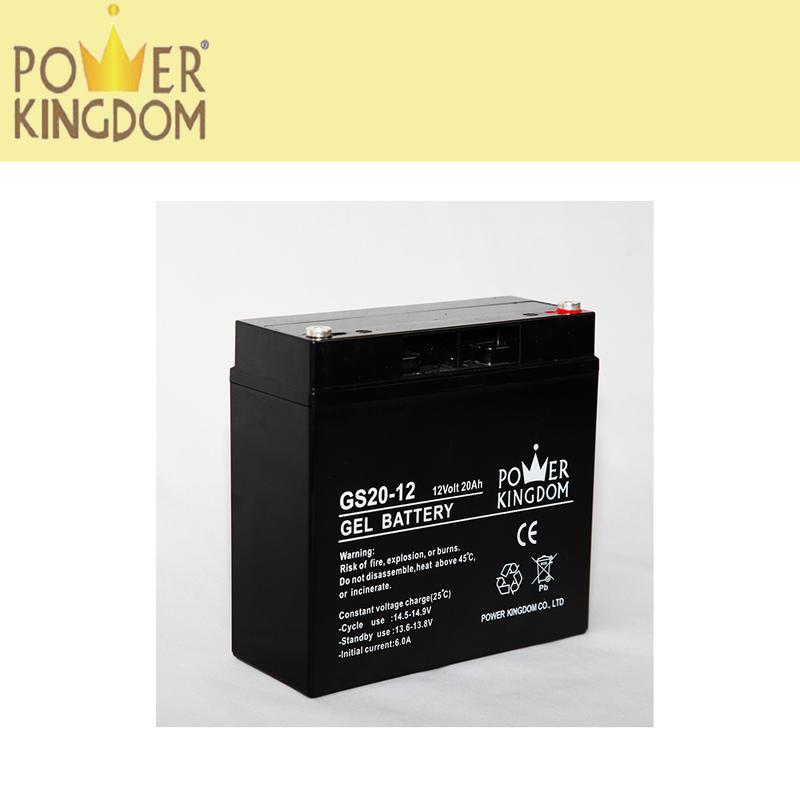 Best quality 12V20AH gel vrla battery rechargeable electric bike battery for kid