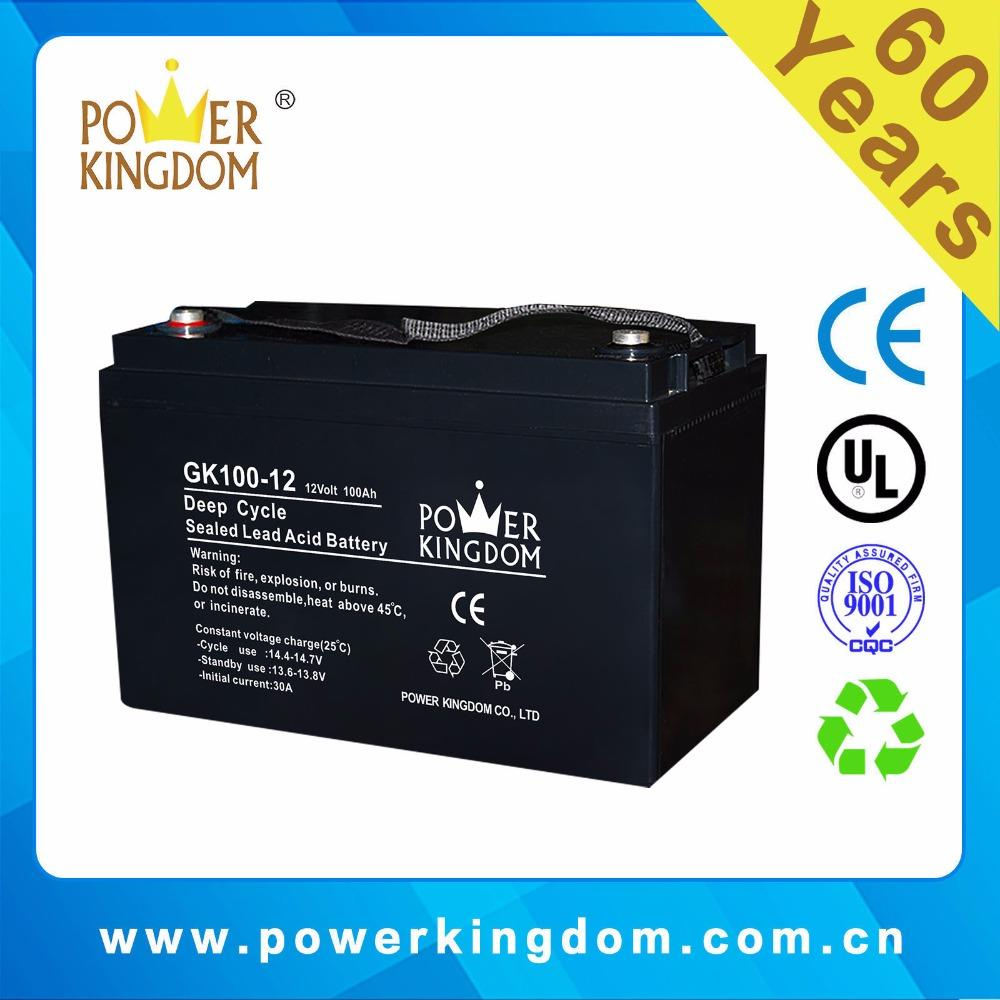 VRLA gel solar 12v 100ah deep cycle ups battery